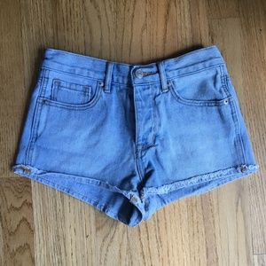 Brandy Melville Shorts Button Fly Raw Hem